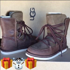 🎁New Ugg Lodge Chocolate Laced Fully lined boot 5